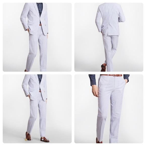 Brooks Brothers Suits Blazers Mens Seersucker Suit By Poshmark